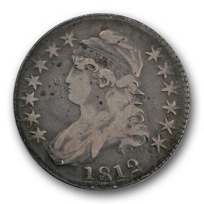 1812 50C Capped Bust Half Dollar Very Fine VF US Type Coin R1455