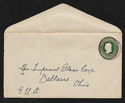 OPC Costa Rica 5c Columbus UPU Stamped Envelope Stationary used