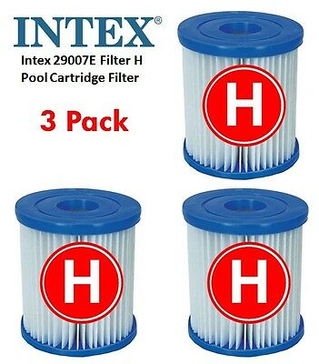 "New 3 x Intex ""H"" Filter Cartridge replacement Size H for INTEX FILTER PUMP"