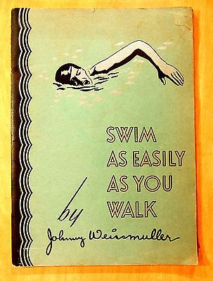 Johnny Weismuller SWIM AS EASILY AS YOU WALK 1930 B.V.D. SWIM CLUB Jack Dempsey