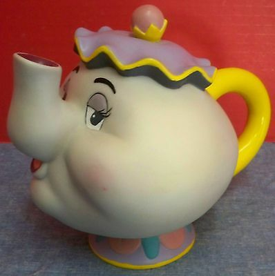 Mrs Potts Teapot from Beauty and the Beast Movie Disney Hard Plastic Coin Bank