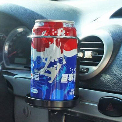 Universal Car Air-Outlet Folding Cup Bottle Drink Holder with Fan Black