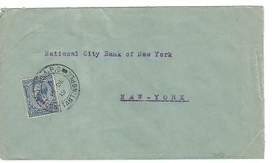 1919 TURKEY - OTTOMAN, Great Britain stamp on CONSTANTINOPLE   Nat.city Bank  US