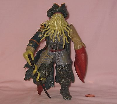 """7"""" Davy Jones Poseable Figure From Disney's Pirate Of The Caribbran; By Zizzle"""