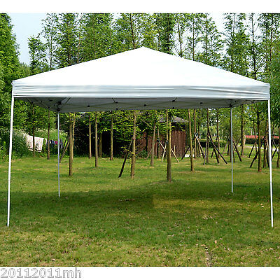 Outsunny 13' x 13' Pop-up Tent Outdoor Party Canopy Gazebo Sun Shade – White