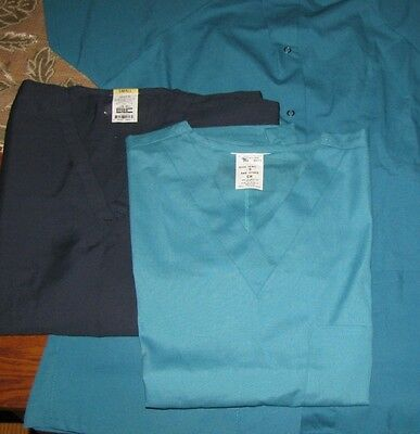 1 Short Sleeve Warm Up Jacket 2 Scrub Tops Size S New Clean Unused NWOT LOT