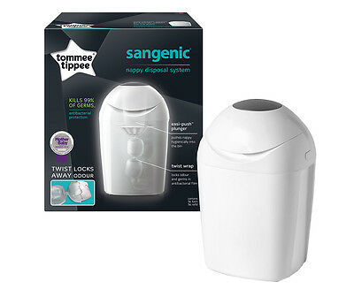 Tommee Tippee Sangenic Nappy Disposal System + Refill - White