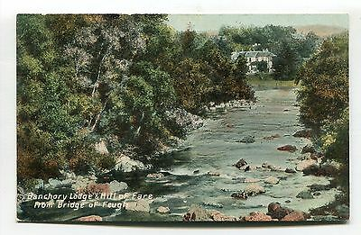 Banchory Lodge & Hill of Fare from Bridge of Feugh - early postcard