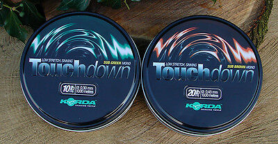 korda touchdown carp line green & brown