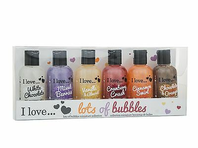 I Love... Lots Of Bubbles Miniature Collection 6 x 100ml Bubble Bath Set For Her