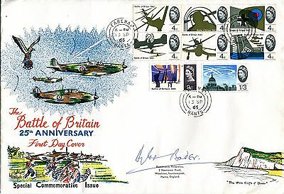 25th Anniversary of the Battle of Britain cover 1965 SIGNED Douglas Bader