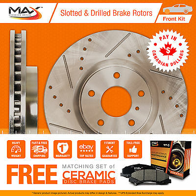 2007 Chevy Silverado 1500 2WD/4WD Slotted Drilled Rotor Max Pads Front