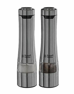 Russell Hobbs Salt And Pepper Grinder Battery Powered  Stainless Steal 23460-56