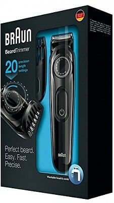 Braun Beard Hair Trimmer Clipper Cordless Ear Nose Shaver Electric Rechargeable