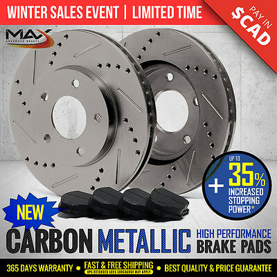 2012 Ram 1500 w/5 Lug Rotor Slotted Drilled Rotor Metallic Pads Front