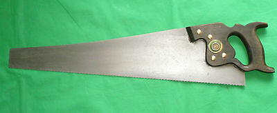 """Vintage Warranted Superior Cross Cut 24"""" Blade 8 TPI Rip Saw Tool"""