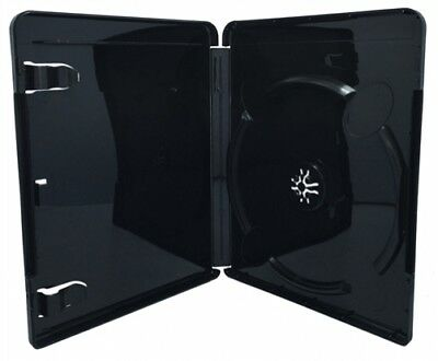 100 PREMIUM GLOSSY Black Blu-Ray Single DVD Cases 14MM