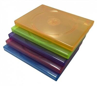 10 STANDARD Clear Assorted Color Single DVD Cases