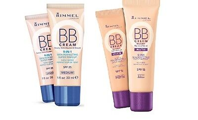 Rimmel BB Cream 9 IN 1 Skin Perfecting Make Up 30ml - **Choose your shade**