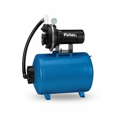 Flotec FP431242 - 9 GPM 1/2 HP Cast Iron Convertible Deep Well Jet Pump w/ 15...