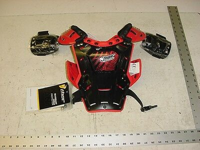 THOR Chest Roost Protector Red Child MX Motocross ATV Quadrant Race