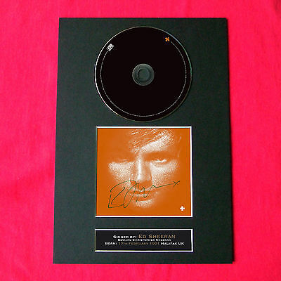 ED SHEERAN + Album Signed CD COVER MOUNTED A4 Autograph Repro Print (39)