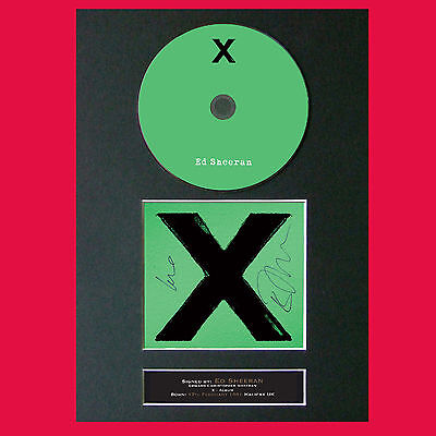 ED SHEERAN X Album Signed CD COVER MOUNTED A4 Autograph Repro Print (55)