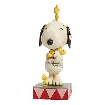 Jim Shore Peanuts Love Is A Beagle Hug Snoopy with Woodstock Figurine 4043614