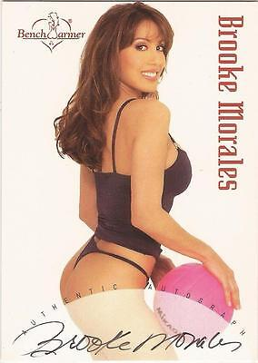 """Benchwarmer 2002 - """"Brooke Morales"""" Auto / Autograph Card"""