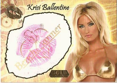 "Benchwarmer 2007 Gold Edition - 15 of 24 ""Krisi Ballentine"" Kiss Card"