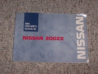 1991 Nissan 300ZX Owner Operator User Guide Manual Twin & Non Turbo 2+2 STD 3.0L