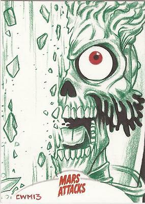 Mars Attacks Invasion - Chad McCown Sketch Card