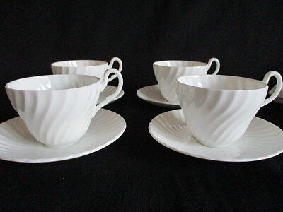 Vintage fluted white china tea set items.....8 pieces in lovely condition