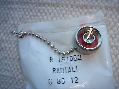 Radiall N-Type Male Short Circuit Cap With Chain (Covers N Female) R161862