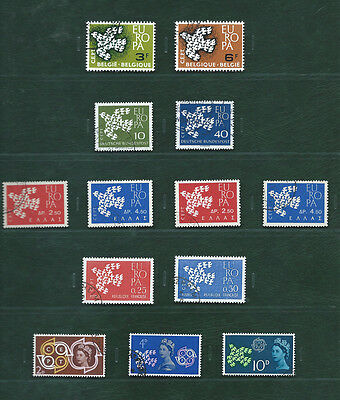 Europa CEPT 1961 San Marino and the others, 16 used sets
