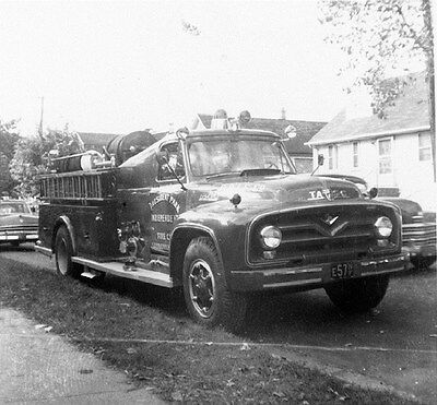 1950's Ford TASC Fire Truck Sayreville New Jersey Factory Photo ca6141