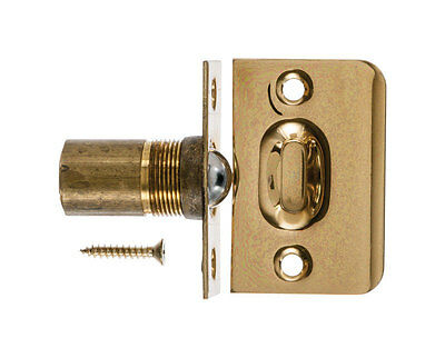 Adjustable  Ball Catch 1 in. x 2-1/8 in. For Cabinets & French doors  BRASS