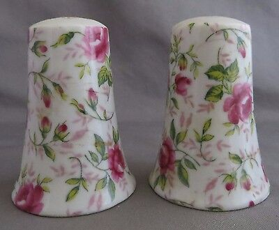 Lefton Rose Chintz Salt and Pepper Shakers Set