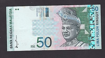 Malaysia 50 Ringgit #ZA Replacement banknote (1998) P43a - UNC Minor Foxing
