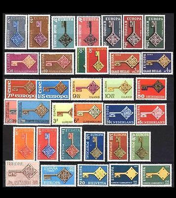 Cept Europa 1968 **annata completa MNH beautiful and complete collection 60,00