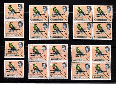 1965 Queen, Sunbird 20 x MNH Sc 193, OVPT Gambia - Wholesale qq