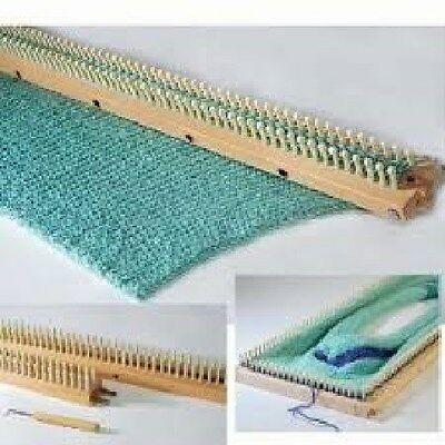 """KB Authentic Knitting Board 28"""" Knitting Board Loom With Peg Extenders KB6435"""