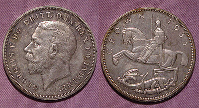1935 KING GEORGE V SILVER CROWN - Silver Jubilee