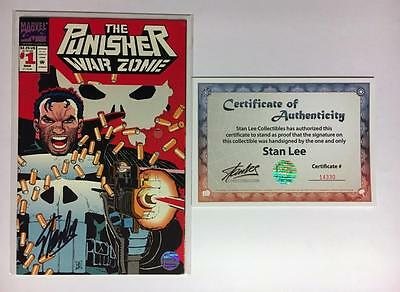 Punisher War Zone #1 Signed Stan Lee W/coa Marvel Comics Frank Castle Jrjr