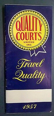Vintage 1957 Quality Courts United Inc. Travel Quality