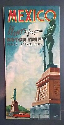 Vintage 1959 Mexico Hints For Your Motor Trip, Pemex Travel Club