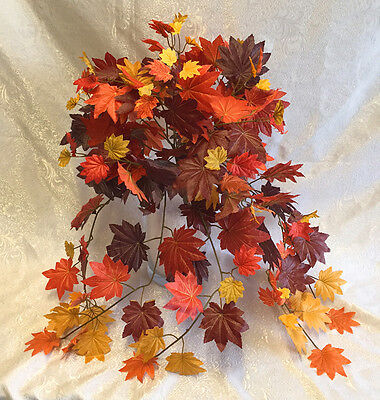 Fall Maple Leaves ~ Bush Greenery Silk Wedding Flowers Bouquets Centerpieces Ivy