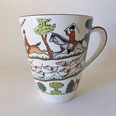 Crown Staffordshire Hunting Scene Mug English Hunting Scene Horses Dogs England