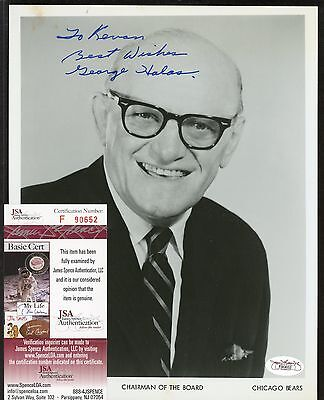 George Halas Signed 8x10 Photo JSA COA AUTO Autograph