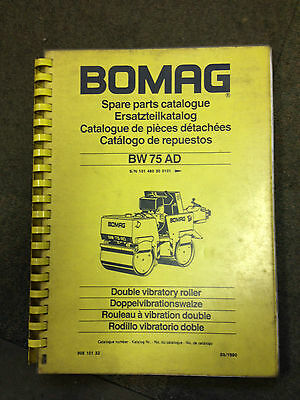 Bomag Spare Parts Catalogue Double Vibratory Roller Bw75Ad Manual